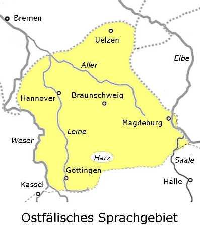 Verbreitungsgebiet Ostfälisch